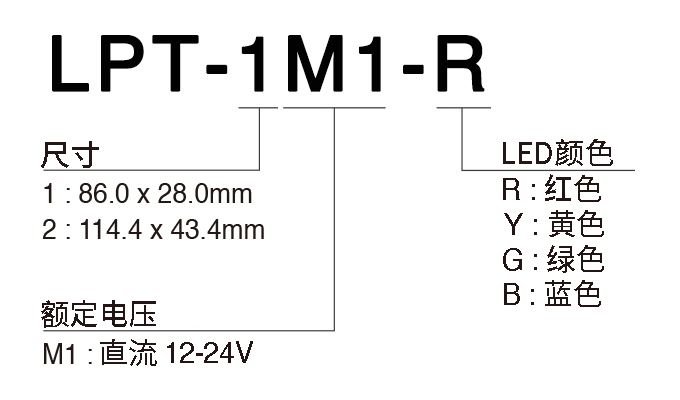 PATLITE派特莱闪烁报警灯LPT(图3)